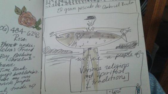 El gran pescado de Gabriel Buda en mi livro de todo el mundo.