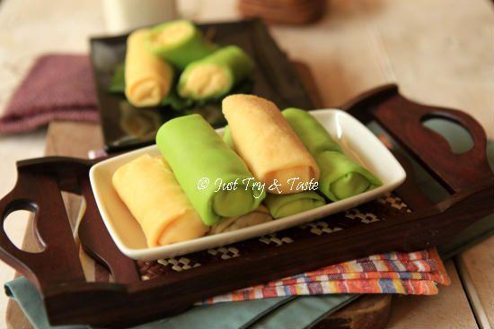 Resep Dadar Gulung Pandan Vanilla Isi Cream Custard Makanan Dan Minuman Resep Makanan Penutup Resep Makanan