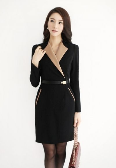 Love this. A cross between a worksuit and a wrap dress. Professional and chic.