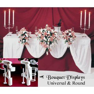 Bridal, Bride or Bridesmaid Wedding Bouquet Display Holder Clamp for Reception Table Decorations