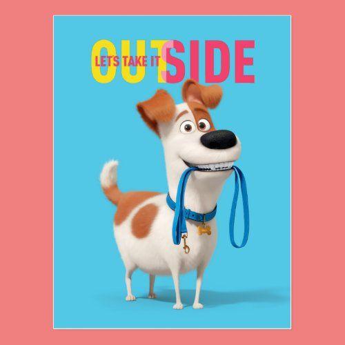 Secret Life Of Pets Max Take It Outside Postcard In 2020 Pet Max Secret Life Of Pets Pets Movie