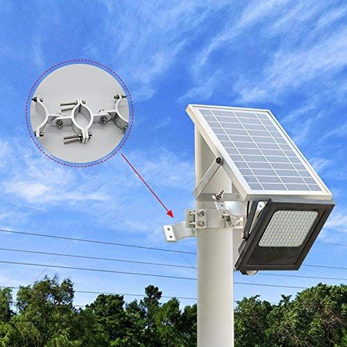 Sunwebcam 120 Led Solar Powered Floodlights Outdoor Security Light 1000 Lumen Ip65 Waterproof With Lamp Outdoor Security Lighting Security Lights Solar Power