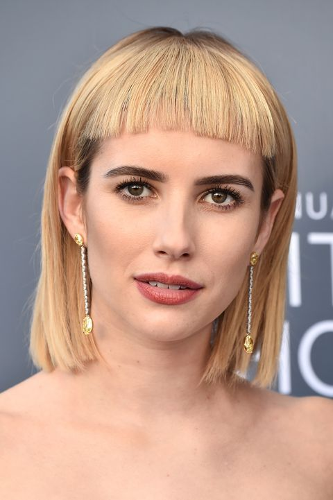 These 40 Celeb Hairstyles Prove That Anyone Can Rock Bangs Fringe Hairstyles Short Hair Fringe Fringe Haircut