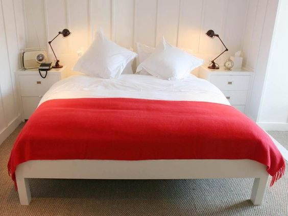 high house road UK red bedroom