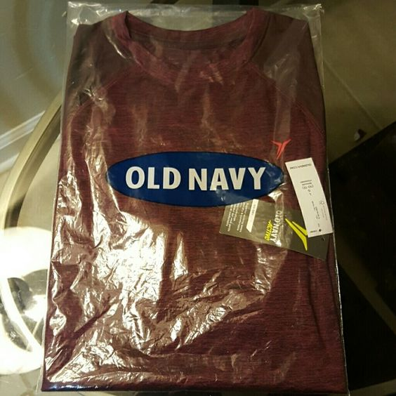 Old Navy Burgundy Shirt Size Large, boys, brand new Burgundy active shirt, purchased two by mistake and trying to sell it. Old Navy Tops Tees - Short Sleeve