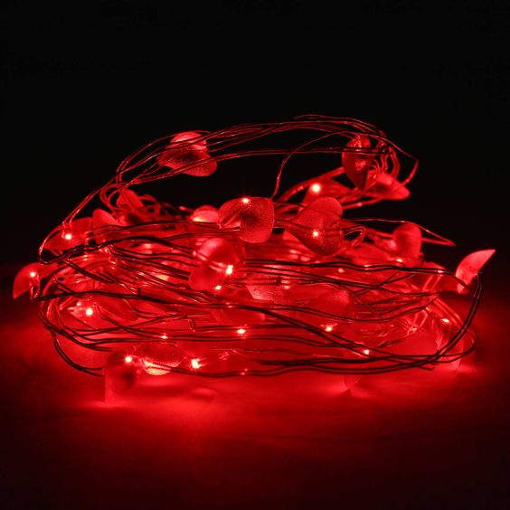 use led string lights to wrap some nice lights for valentine day - Valentine String Lights