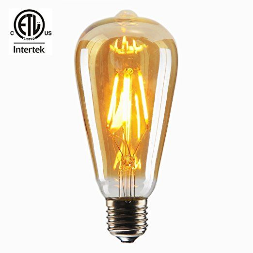 Cmyk Vintage Edison Led Bulb Dimmable 4w St64 Antique Led Bulb Squirrel Cage Filament Light For Decorate H Vintage Light Bulbs Led Bulb Filament Bulb Lighting