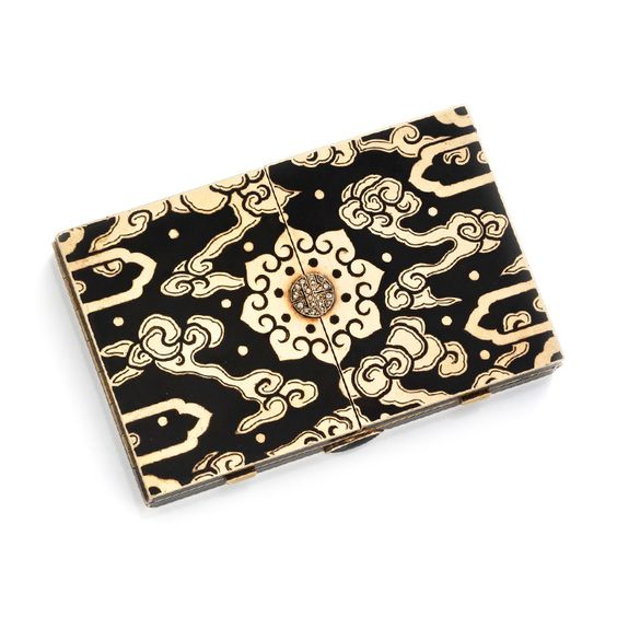 An Art Deco Enamel and Diamond Vanity Case, by Black, Starr and Frost, circa 1930