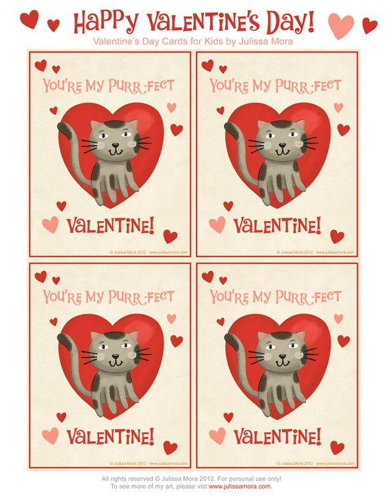 kids cat valentines – Valentine Day Cards Free
