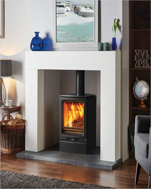 Wood Burning Stove Fireplace In 2020 Freestanding Fireplace Fireplace Surrounds Log Burner Fireplace