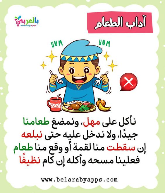 بطاقات تعليم الطفل آداب الطعام آداب وسلوكيات الطفل المسلم بالعربي نتعلم Vault Boy Fictional Characters Boys