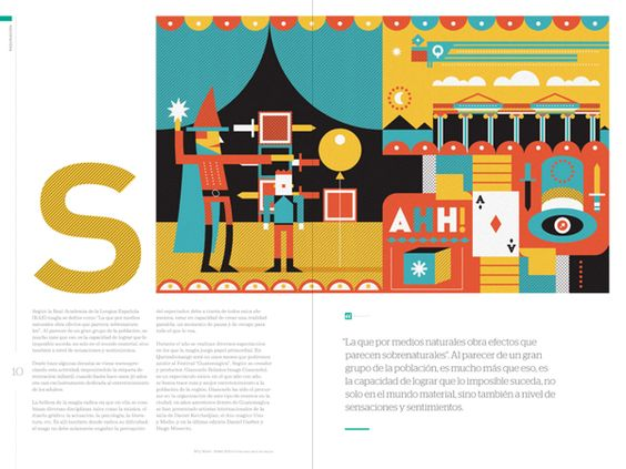 Abra Cadabra - Editorial Illustrations/Panela Magazine by Luis Pinto, via Behance