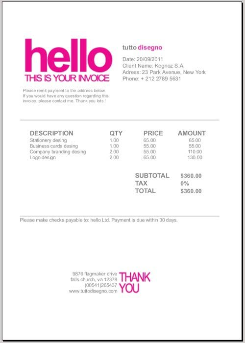 Invoice Design - Stationery Pinterest Graphic designers - how do i create an invoice