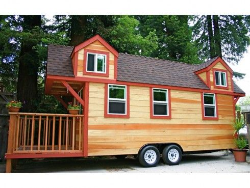 tiny house on wheels192 sq ft with 2 loft bedrooms