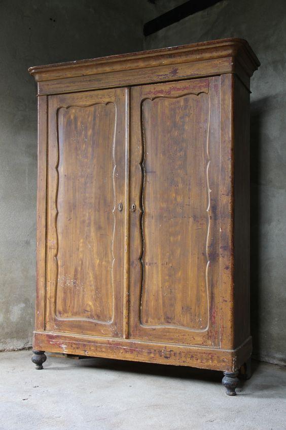 Brocante houten vintage kast - Inndoors Meubelen en Interieur