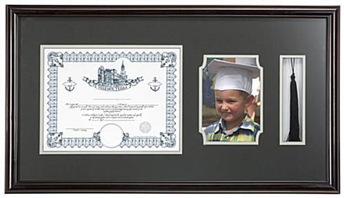 This High School Diploma And Tassel Frame Features Two Openings One 8 5 X 11 And One 5 X 7 Display A Colleg Graduation Picture Frames Frame Diploma Frame