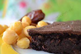pastel de chocolate vegano de garbanzos