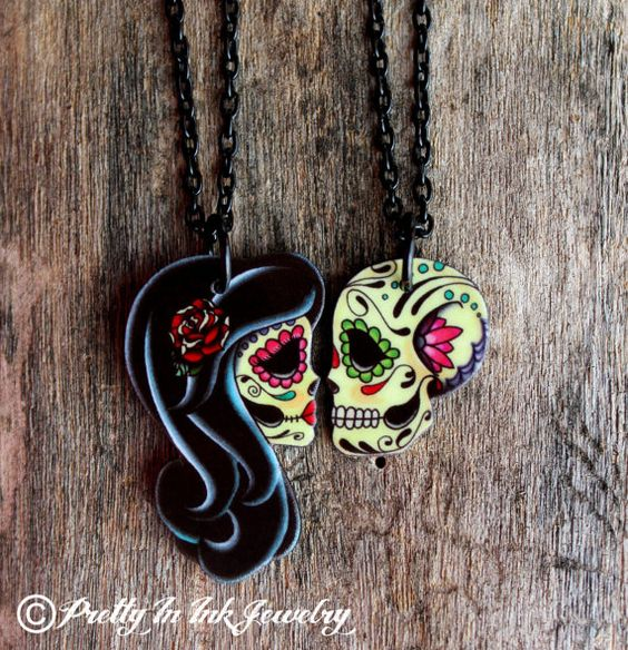 Ashes to Ashes . . . His and Hers Couples Pair of Necklaces on Etsy, $42.11