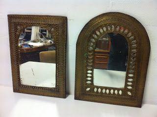 decoración vintage, antiguitats-baraturantic: espejos marroquís