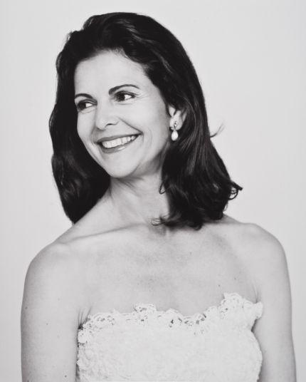 Drottning Silvia, porträtt Denise Grünstein - Kuningatar Silvia