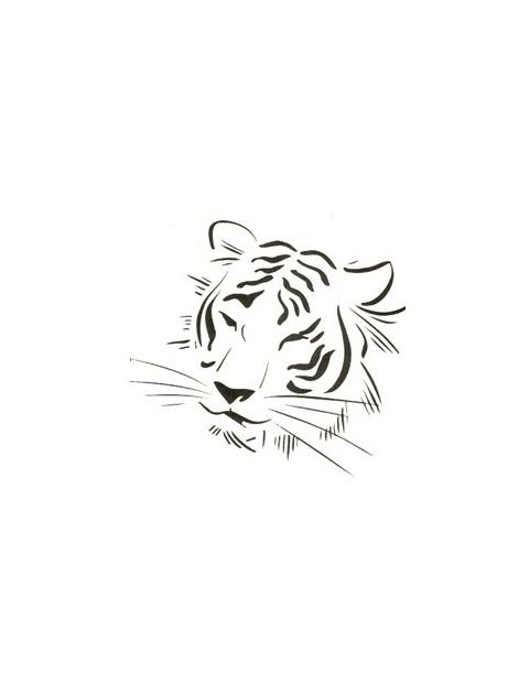 Tiger Face Outline With Less Detail Tattoo Tony S Tattoo Gallery Tiger Tattoo Design Tiger Tattoo Tiger Tattoo Small