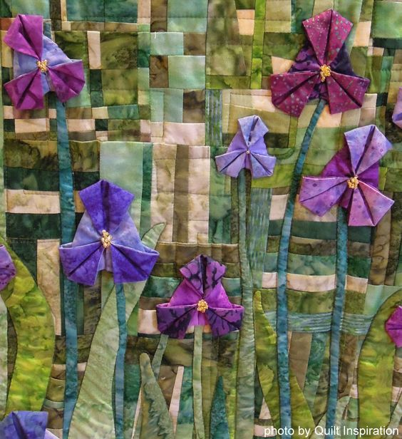 small part of a large group quilt - Quilt Inspiration: Welcome to the 2014 River City Quilters' Guild Show: Day 2: