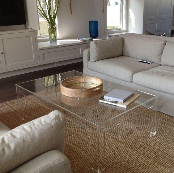 Clear Acrylic Coffee Table diy furniture Pinterest Clear - schwarz weiß wohnzimmer