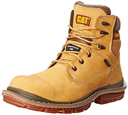Caterpillar Men's Fabricate 6 Inch WP CT Work Boot, Honey Reset, 9.5 M US