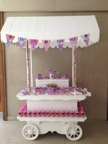 Candy bar carros kiosco baby shower golosinas for Carrito bar de madera