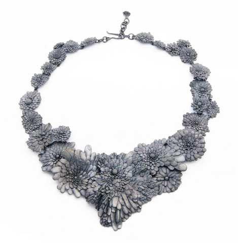 Nora Rochel. Necklace. 925 silver - blackened.