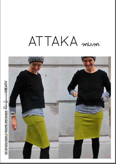 Image of kleinformat kreativ ATTAKA MUM Pullover Schnitt/ sweater pattern (engl. version incl.)