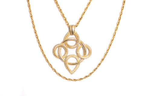 Vintage Coro Pendant on Trifari Chain – CS Gems