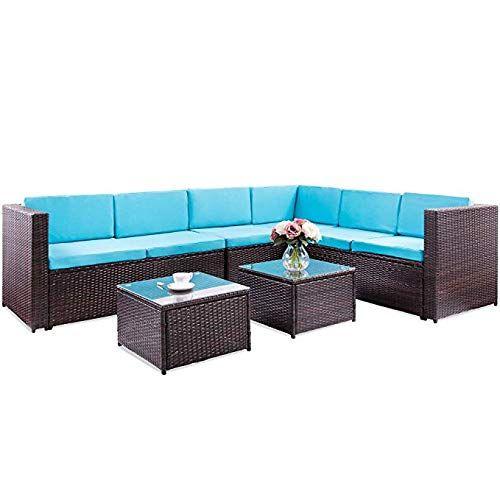 See Veryke 5 Piece Patio Furniture Conversation Sets Rattan So Patio Furniture In 2020 Patio Sofa Set Patio Furniture Conversation Sets Outdoor Patio Furniture Sets