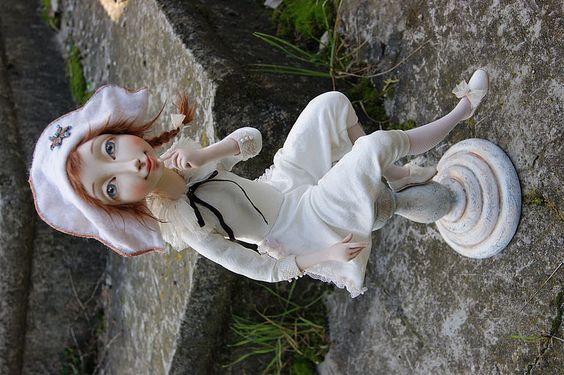 """Купить Авторская кукла """" Коломбина"""" - авторская работа, подарок, шёлк, лодолл, бисер"""
