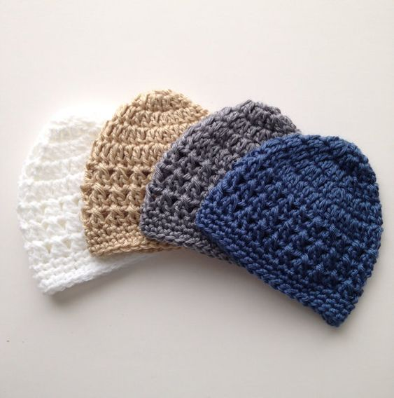 Crochet Baby Hat Patterns 6 Months : Baby Boy Crochet Hat Pattern - Newborn up to 6 months ...