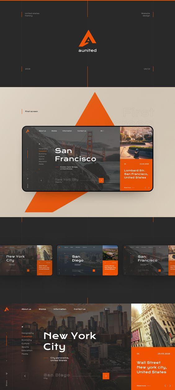 Web Template Web Design Layout App Design Inspiration Portfolio Web Design Web Layout Design