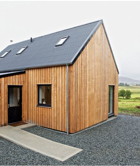 A timber-clad prefab on Scotland's Isle of Skye demonstrates a smart and local approach to building in far-flung locations.  Photo by: Marcus McAdam