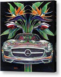 Gullwing Birds Of Paradise Painting by Mike Hill - Gullwing Birds Of Paradise Fine Art Prints and Posters for Sale