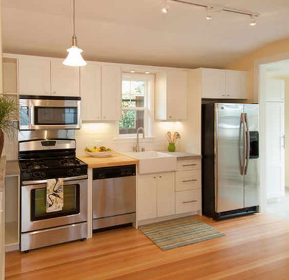 Small kitchen designs photo gallery section and for Small built in kitchen