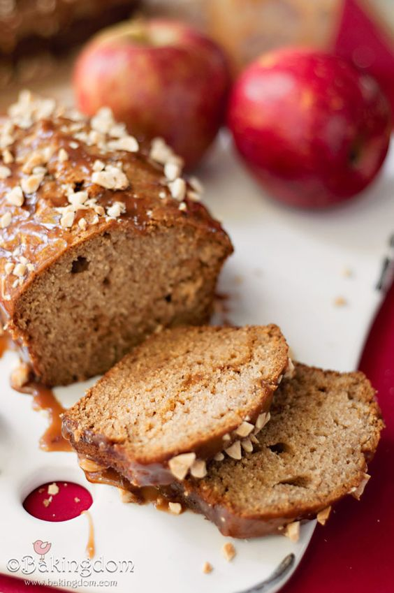 Quick Caramel Apple Bread