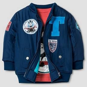 HIT® Baby Boys' Bomber Jacket and Long Sleeve Tee Set - Navy 18M : Target