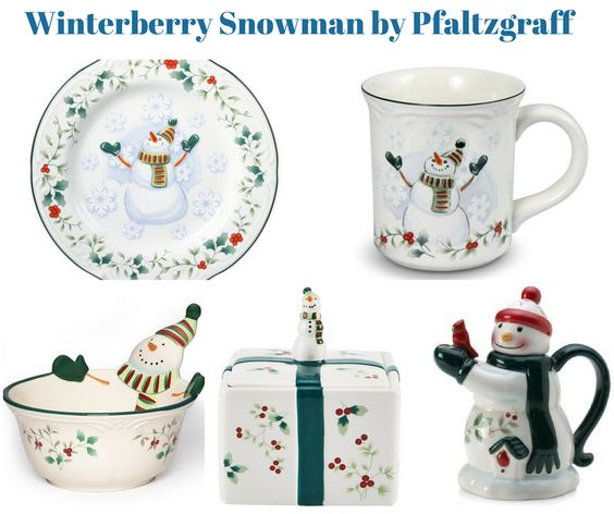 Winterberry Snowman Collection by Pfaltzgraff