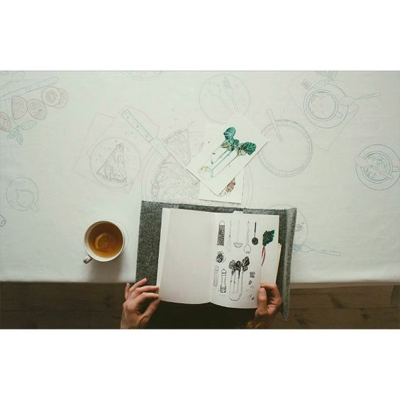 #tablecloth #draw #ilustration #food #fooddesign #fooddesigner #art #artist #tea  @malgorzatajagielska  @cepiotr @nataliasiebula