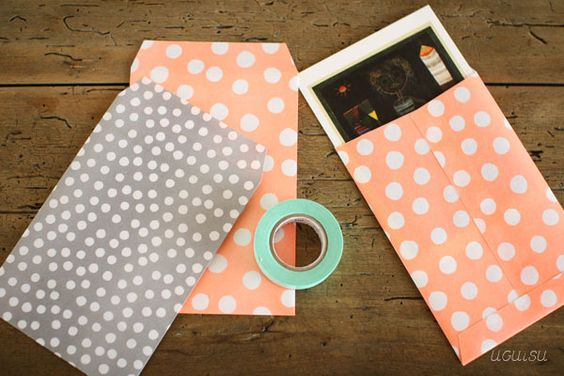 polka dot print envelopes