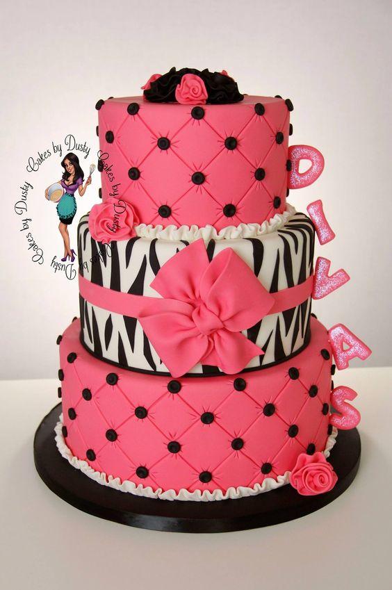 Zebra Decorated Cake
