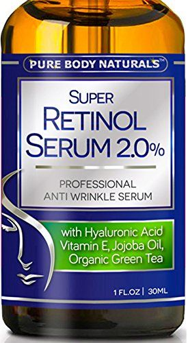 Best Retinol Serum - 72% ORGANIC - With Hyaluronic Acid, Jojoba Oil, Clinical Strength Retinol Moisturizer Anti Aging Anti Wrinkle Serum - SATISFACTION GUARANTEED