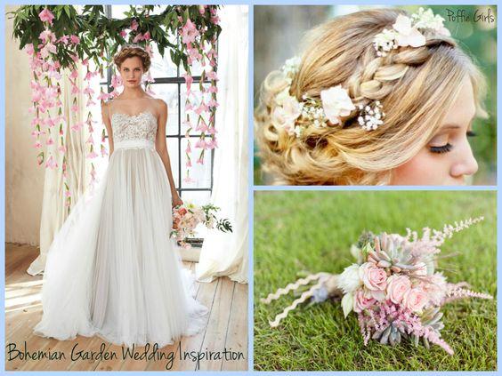 Bohemian Garden Wedding Inspiration www.poffiegirls.com
