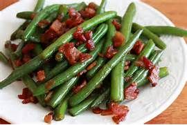 Chorley Cakes: GREEN BEANS WITH BACON and other tasty ways with v...