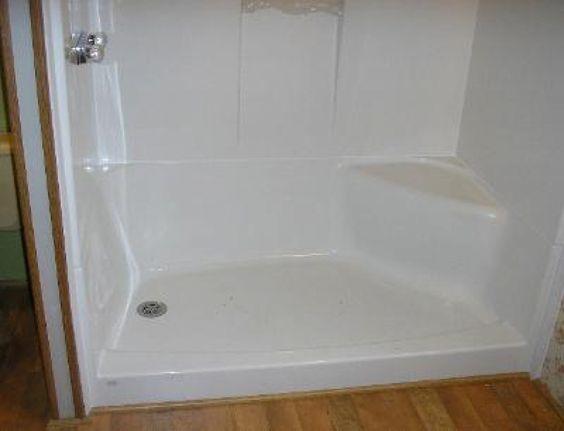 Mobile home bathroom remodeling mobile home bath tub shower installation bathroom remodeling for Showers for mobile homes bathrooms