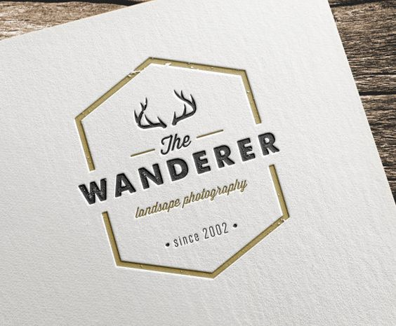 A beautiful vintage typography logo with a rustic feel. Each font was carefully selected for the creation of this original and authentic identity